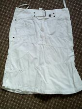 LADIES white mexx cotton skirt size 10 worn once in excellent condition