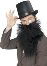 Hagrid Estilo Negro tupida barba falsa