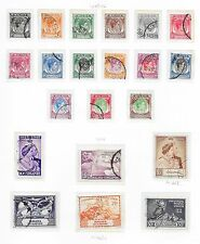 Singapore stamps 1948 Collection of 21 stamps  CANC  VF   HIGH VALUE!