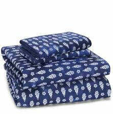 Sky Indigo Patchwork Sheet Set With Pillowcases 100% Cotton Full NEW IN PLASTIC