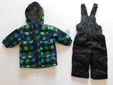 NWT Wippette Baby Boy 2 Pc Plaid Jacket/Coat & Snowsuit Bib Set 12-18M NWT
