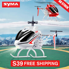 Syma S39 3.5Ch Remote Control LED Light RC Helicopter Indoor Drone White AU SHIP