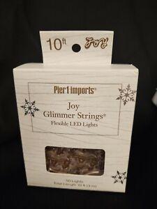 Pier 1 Joy Glimmer Strings Flexible LED 50 Lights Christmas Mantle or Tree