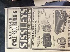 M3-8a 1941 dagenham. ww2 advert sissleys the cycle shop