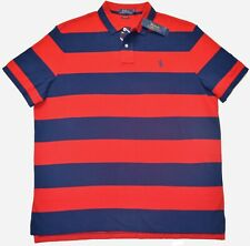 New XL POLO RALPH LAUREN Men short sleeve Rugby Polo Shirt Classic Fit  Red top