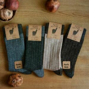 Alpaca Wool Socks 2 pairs Natural Thermal Winter Socks Hiking walking home sock