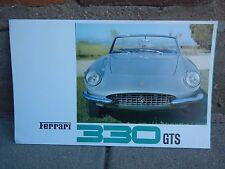 FERRARI 330 GTS SALES BROCHURE IN EXCELLENT CONDITION  14/66