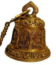 Large - Hindu Lord Designer Brass Bell - Great Sounding (285)