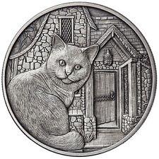 Lisa Parker Collection 250 Minted Antique Chat & Loup 5 oz Argent .999 Fin