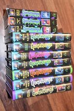 10 lot 1990s R.L. Stine Goosebumps Movies Vhs Tapes Videos Haunted Mask I & II