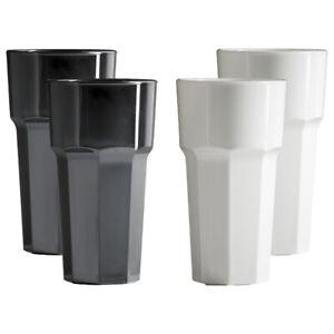 Premium Reusable Polycarbonate Plastic Black & White Octagon shaped 12oz Tumbler