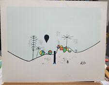 "Paul Klee Vintage Plate Signed Serigraph 1980's 20""×26"""