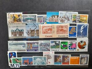 Canada stamp collection as scan all used. Kiloware