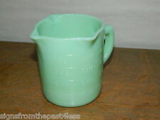 JADE MILK GLASS JADEITE 3 SPOUT 1-CUP GRADUATED MARKINGS-LEFT OR RIGHT HAND