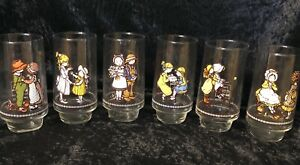 Vintage Coca-Cola Holly Hobbie Happy Talk Drinking Glasses Set of 6