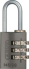 ABUS  Vorhangschloss 145/20 Titanium Zahlenschloss mit verstellbarem Code NEU