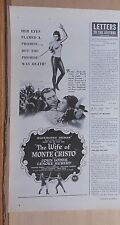 "1946 magazine ad for movie "" The Wife of Monte Cristo"" - Lenore Aubert, J. Loder"