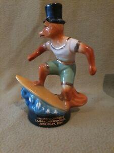 1970's Jim Beam surfing fox 1984