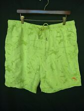 TOMMY BAHAMA Relax Swim Trunks Shorts XL 6.5 Inseam Nylon Lime Green Mesh Brief
