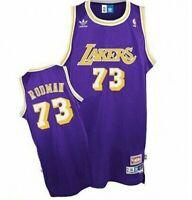 Dennis Rodman #73 Los Angeles Lakers Classic Purple Swingman Jersey NEW
