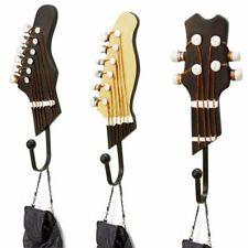 Stainless Steel Hooks Wall Hanger Guitar Patterned Chrome Robe 3pcs/Set Fixtures