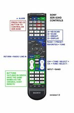 Sony XDR-S3HD replacement IR remote