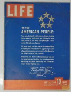 Life Magazine June 4 1945 WW2 Girls Baseball Nazi Suicides Bogart Marries Bacall