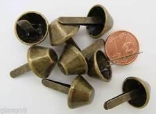 8 PIEDS cone plat Boite ou sac à main bronze 23x15mm Cartonnage Maroquinerie