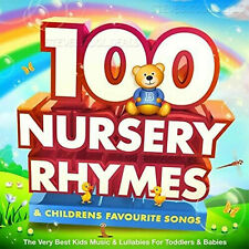 100 Childrens Nursery Rhymes Singalong Songs Music Kids baby FAVORITES 2 CDs UK✅