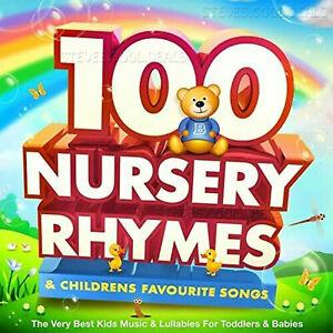 100 Childrens Nursery Rhymes Singalong Songs Music Kids baby FAVORITES 2 CDs UK✅