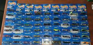 """1991 Hot Wheels """"Speed Fleet"""" Lot of 55 Mainline Blue Card"""