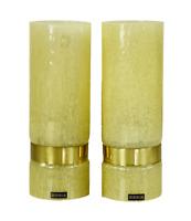 Paar Doria Wand Lampen Glas Kolben Leuchten NOS neuwertig OVP Box 60er Jahre