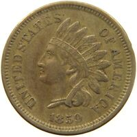UNITED STATES CENT 1859 INDIAN HEAD #t140 369