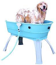 Bath Tub For Large Dog Teal Blue Pet Dogs Grooming Wash Station Bathtub Shower