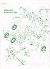 Trim-Rite Edger 733 743 Edger Parts List Breakdown and Schematics PDF file