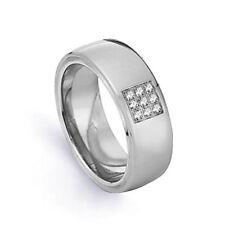 Joyería de oro blanco diamante 18 quilates para hombre