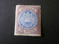 ANTIGUA, SCOTT # 27, 1/-. VALUE  VIOLET & ULTRA 1903 SEAL OF THE COLONY  MLH