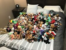 Lot of over 110 Retired TY Beanie Babies-includes Rare Princess Diana Bear