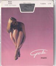 Bas GERBE NUANCE 20 deniers disponibles en 4 coloris. Vintage sheer stockings.