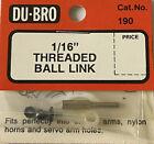 "DU-BRO 190 - 1/16"" THREADED BALL LINK - NEW - FREE SHIPPING"