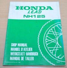 Honda Lead NH 125 Vergaser Elektrik Scooter 1985 Werkstatthandbuch Motorrad