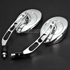 Chrome 10mm Rearview Mirrors For Honda Shadow Aero Phantom VT VLX 600 750 1100