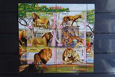 Löwen 14 lions Katzen cats Tchad Tiere animals Fauna Natur postfrisch ** MNH