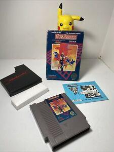 🔥Rare:Gun Smoke Blue (Nintendo NES)Complete in Box Good Condition Vntg GunSmoke