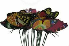 24 Garden Stake Butterfly Yard Metal Decor Art Outdoor Home Lawn Color Patio Nib