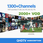6 Months QHDTV Smart IPTV or Android TV Subscription 1300+ Channels 2000+ VOD