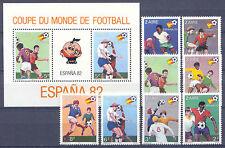 El fútbol WM 1982-zaire - 722-729, bl.40 ** mnh