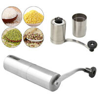 Stainless Steel Manual Coffee Bean Grinder Mill Hand Grinding Kitchen Tool NEW