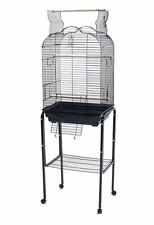 NEW Open Play Top Small Parrot Bird Cage Cockatiel W/Stand Black 1718  169
