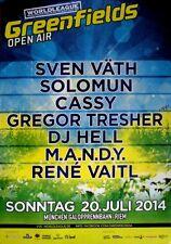 GREENFIELD OPEN AIR - 2014 - Konzertplakat - Sven Väth - Solomun - DJ Hell - Mün